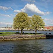 Nieuwe Maas River Waterfront In Rotterdam Art Print