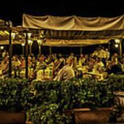 Night At The Cafe - Taormina - Italy Art Print