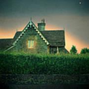 Night Cottage Art Print