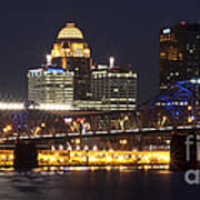 Night Descends Over Louisville City Art Print