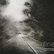 Night Driving On The Bells Line Of Road Art Print