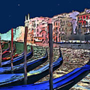Night Falls In Venice Art Print