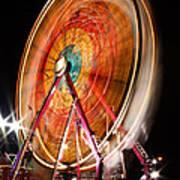 Night Ferris Wheel 3 Art Print