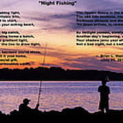 Night Fishing - Poem Art Print