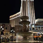 Night Glow At The Venetian Las Vegas Art Print