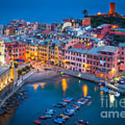 Night In Vernazza Art Print by Inge Johnsson