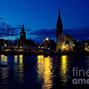 Night Lights In Inverness Art Print