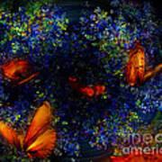 Night Of The Butterflies Art Print