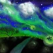 Night Of The Fireflies Art Print