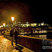 Night On The Charles Bridge Art Print