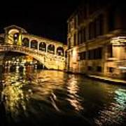Night On The Grand Canal Art Print
