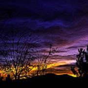 Night Paints The Sky Art Print