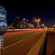 Night Parking Meter Art Print