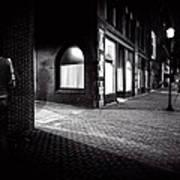 Night People Main Street Art Print by Bob Orsillo