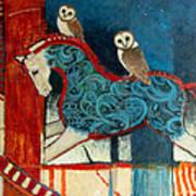 Night Riders Art Print by Jennifer Croom