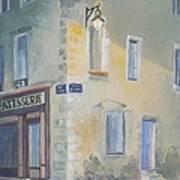 Night Scene In Arles France Art Print