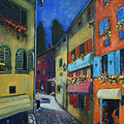 Night Street In Pula Art Print