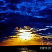 Night Surrounds The Sun Art Print by Q's House of Art ArtandFinePhotography