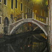 Night Time In Venice Art Print