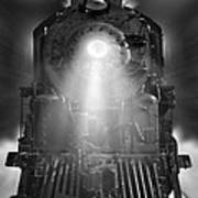 Night Train On The Move Art Print