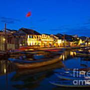 Night View Of Hoi An City Vietnam Art Print