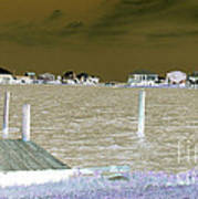 Night View Of Lafitte Bay Dauphin Island Alabama Art Print