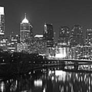 Nighttime In Philadelphia Art Print