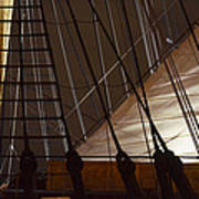 Nightview Sails And Rigging Art Print