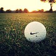 Nike Golf Ball Art Print by Derek Goss