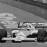 Niki Lauda. 1984 British Grand Prix Art Print