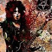 Nikki Sixx - Motley Crue  Art Print
