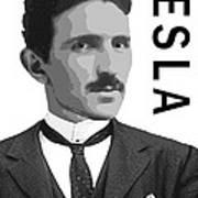 Nikola Tesla 2 Art Print