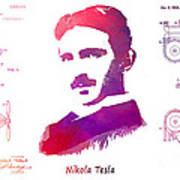 Nikola Tesla Patent Art Apparatus For Aerial Transportation  Art Print
