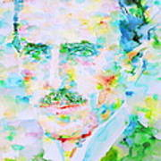 Nikola Tesla Watercolor Portrait Art Print