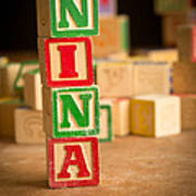 Nina - Alphabet Blocks Art Print