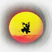 Ninja Duel In The Sun Art Print