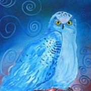Nite Owl Art Print by Amy Reisland-Speer