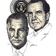 Nixon and Agnew Art Print