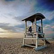 No 4 Lifeguard Station Art Print