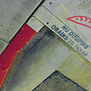 No Dumping - Drains To Ocean No 1 Art Print