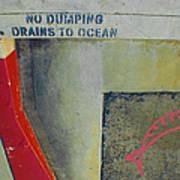 No Dumping - Drains To Ocean No 2 Art Print