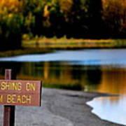 No Fishing Art Print