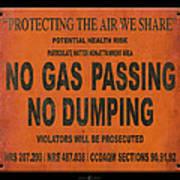 No Gas Passing Art Print