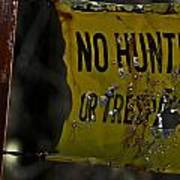 No Hunting Art Print
