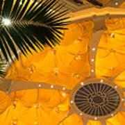 Sunshine Yellow Silk Decor With Stars Art Print