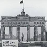 No Passing-papers For West-berlins Inhabitants Art Print