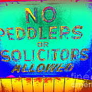 No Peddlers Or Solicitors Art Print