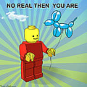 No Real Then You Are Art Print by Mark Ashkenazi