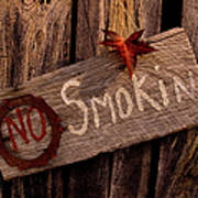 No Smokin Art Print