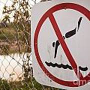 No Swimming Art Print